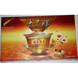 American Wisconsin Ginseng Root Tea with Chrysanthemum
